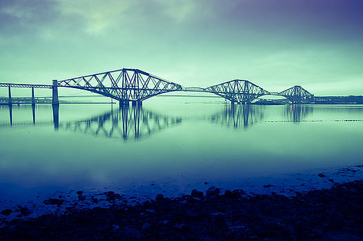 Forth Bridge Queensferry Edinburgh by Donald Davis
