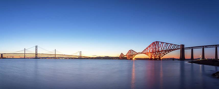 Forth Bridges Panoramic by Scott Masterton