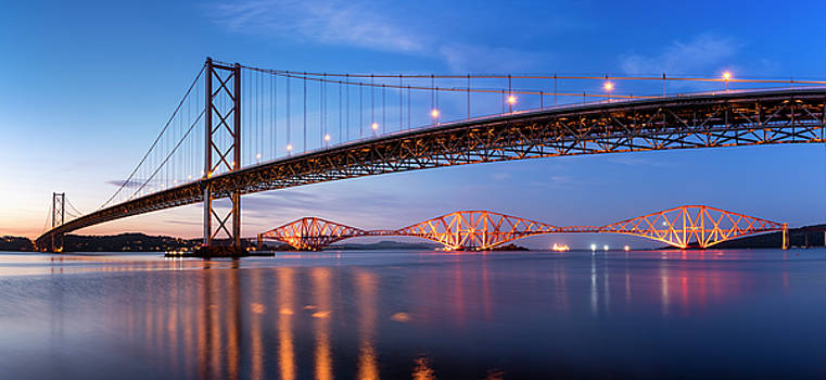 Forth Road Rail Bridges by Scott Masterton