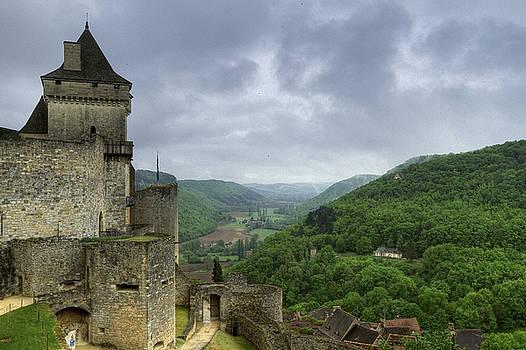 Castelnaud fortified medieval castle in Dordogne France by Arabesque Saraswathi