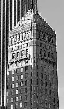 Foshay Tower in Black and White by Lonnie Paulson