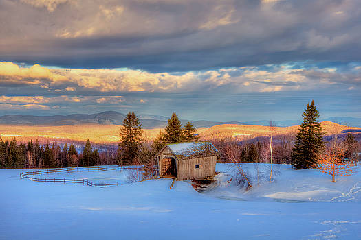 Joann Vitali - Foster Covered Bridge in WInter - Cabot, Vermont