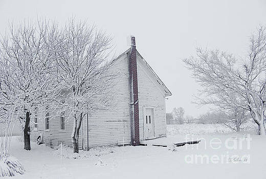 Foster Schoolhouse in the Winter by E B Schmidt