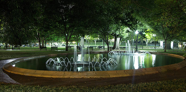 Fountain at Night by Ed Clark
