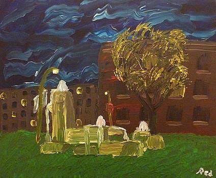 Fountain at Night by Joshua Redman