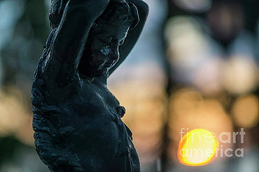 Fountain at Sunset Alameda Apodaca Cadiz Spain by Pablo Avanzini