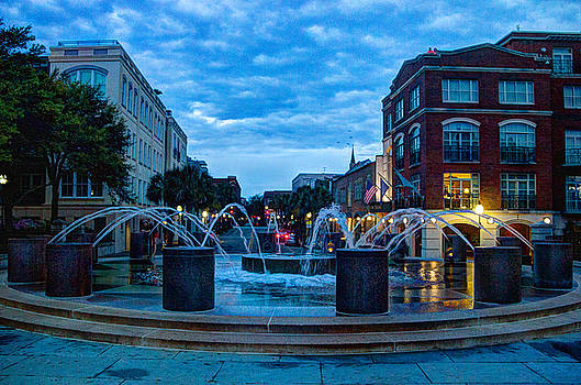 Fountain at Waterfront Park by BG Flanders