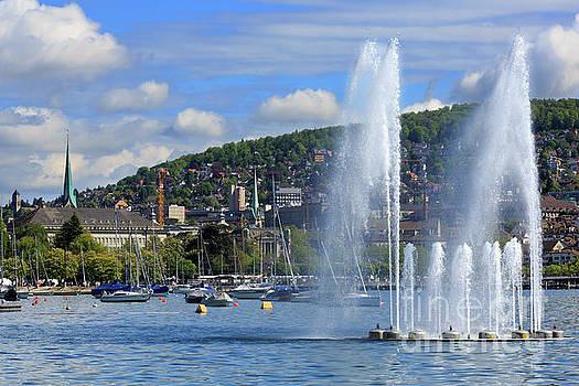 Fountain in Enge Zurich Switzerland by Louise Heusinkveld