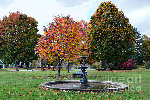 Fountain in Lyndonville Bandstand Park by Catherine Sherman