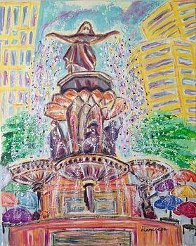 Fountain Square  Cincinnati  Ohio by Diane Pape