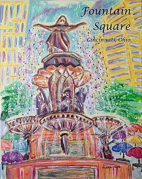 Fountain Square  Cincinnati  Ohio with Title by Diane Pape