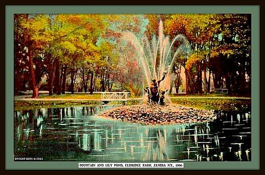 Fountains And Lily Pond, Eldridge Park, New York N Y, 1905 by Dwight GOSS