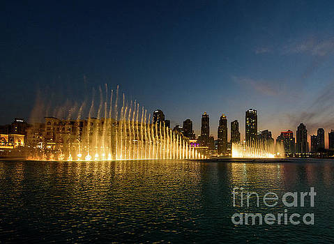 Fountains at Dusk by Sandy Molinaro