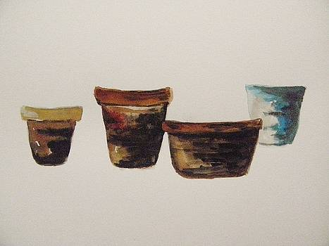 Four Aged Pots by John Williams