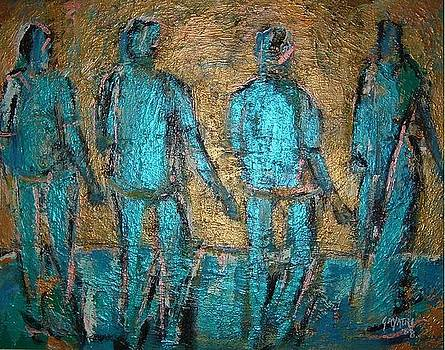 Four Blue Men by Gayatri Manchanda