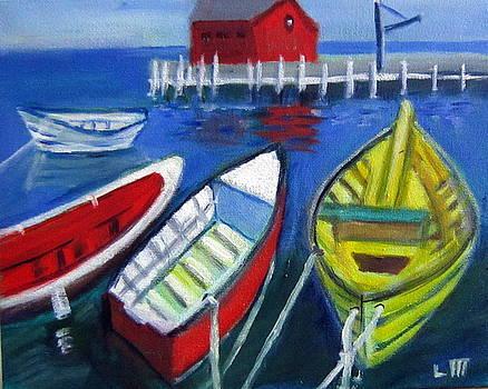 Four Boats by Lia  Marsman