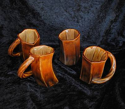 Four Cool Crooked Cups by John Johnson