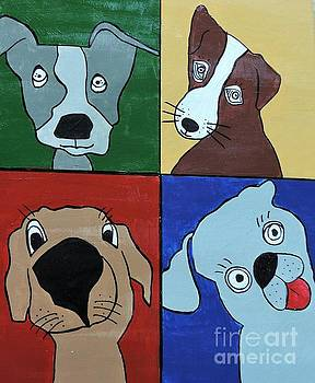 Artists With Autism Inc - Four Dogs