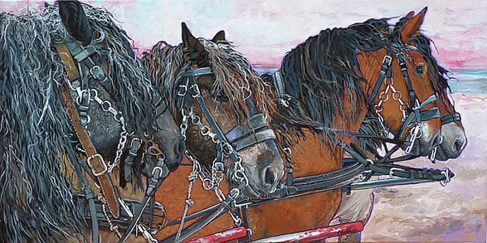Four Draft Horses by Nadi Spencer