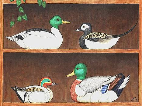 Linda Mears - Four Duck Decoys
