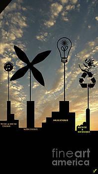 Four Energy Source by Artist Nandika Dutt