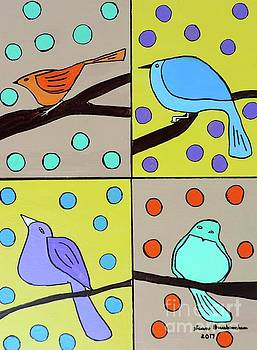 Artists With Autism Inc - Four feathered friends