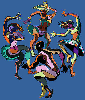 Four Fifties Dancers by Geoff Greene