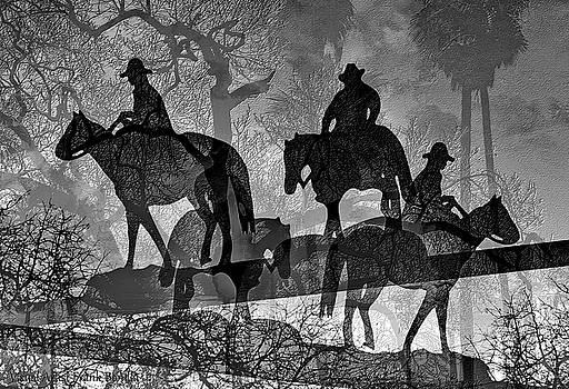 Four Horsemen Black and White by Visual Artist Frank Bonilla