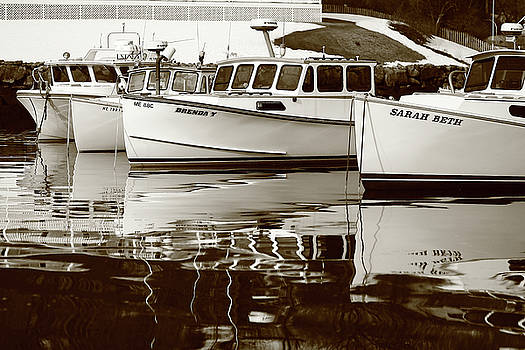 Four Lobster boats by Brian Pflanz