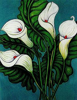 Richard Lee - Four Long Lilies