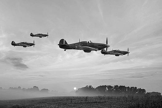 Four Of The Few - BW by Mark Donoghue
