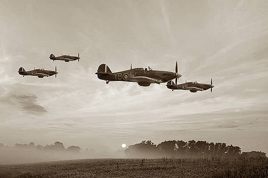 Four Of The Few - Sepia by Mark Donoghue