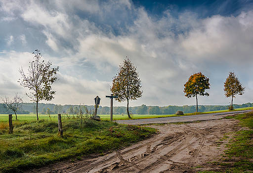 Four on the crossroads by Dmytro Korol