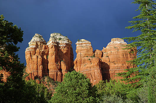 Reimar Gaertner - Four Sedona Arizona Hoodoo spires