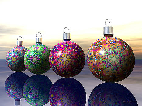 Walter Oliver Neal - Four Tree Ornaments