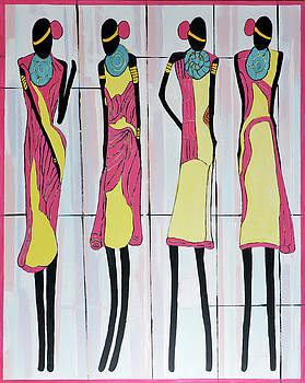 Four Women from Dakar II by Dianke Daffe-Rachow