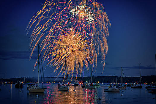 Fourth of July in Boothbay Harbor by Rick Berk