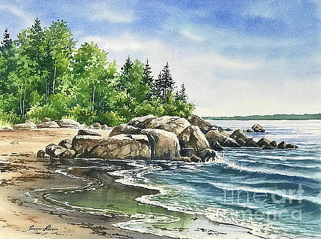 Fowler Beach Rocky Shore by Varvara Harmon