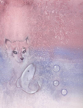 Fox and fish by Christine Winters