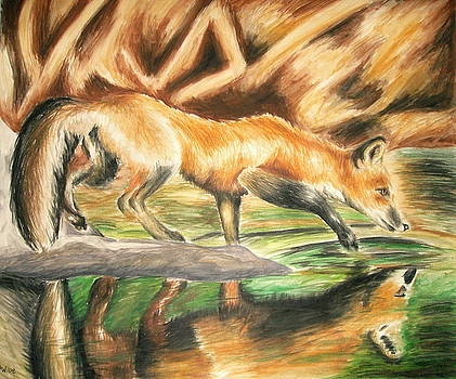 Fox by the Water by Ashley Warbritton