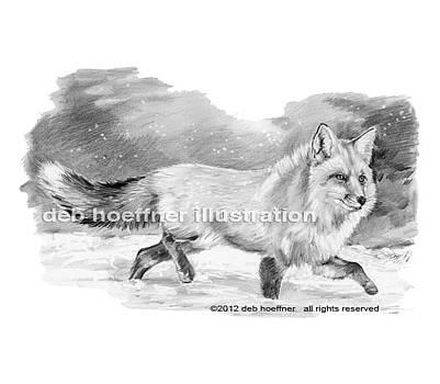 Fox in Snow by Deb Hoeffner