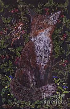 Fox In The Berry Bushes by Dawn Fairies
