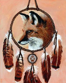 Fox Medicine Wheel by Brandy Woods