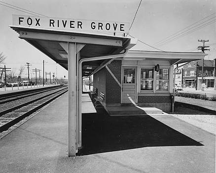 Chicago and North Western Historical Society - Fox River Grove Depot in Illinois - 1961
