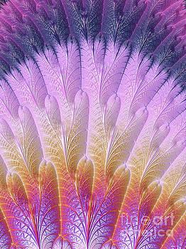 Fractal Feather Fan by Barbara Milton