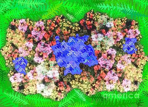Fractal Flower Garden by Diamante Lavendar
