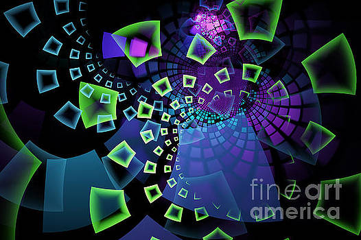 Fractal Tiles Swirling by Sari ONeal