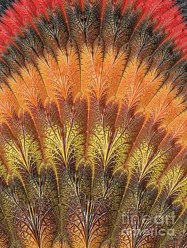 Fractalized Feather Fan by Barbara Milton