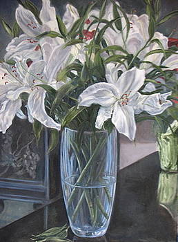 Fragrant Lilies by Cynthia Vowell