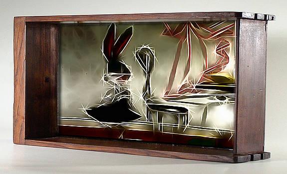 Framed Bunny Abstract by Mario Carini
